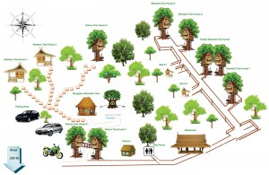 khaosok paradise resort map